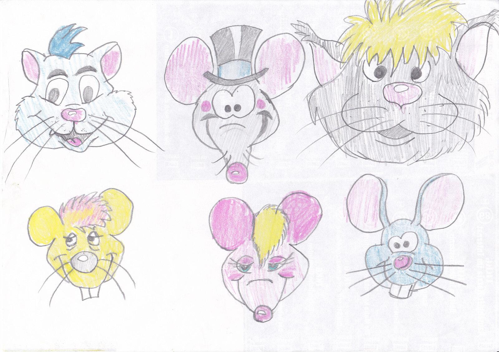 Tierköpfe aus einem Kartenspiel (1993/94)