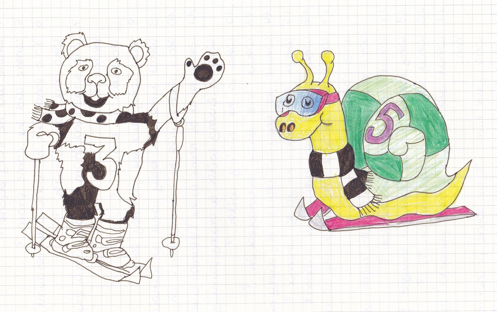 Maskottchen der Skischule (01/1994)
