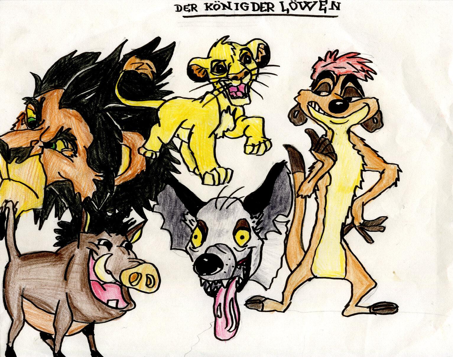 Disney: Der König der Löwen, Charaktere (11/1994)