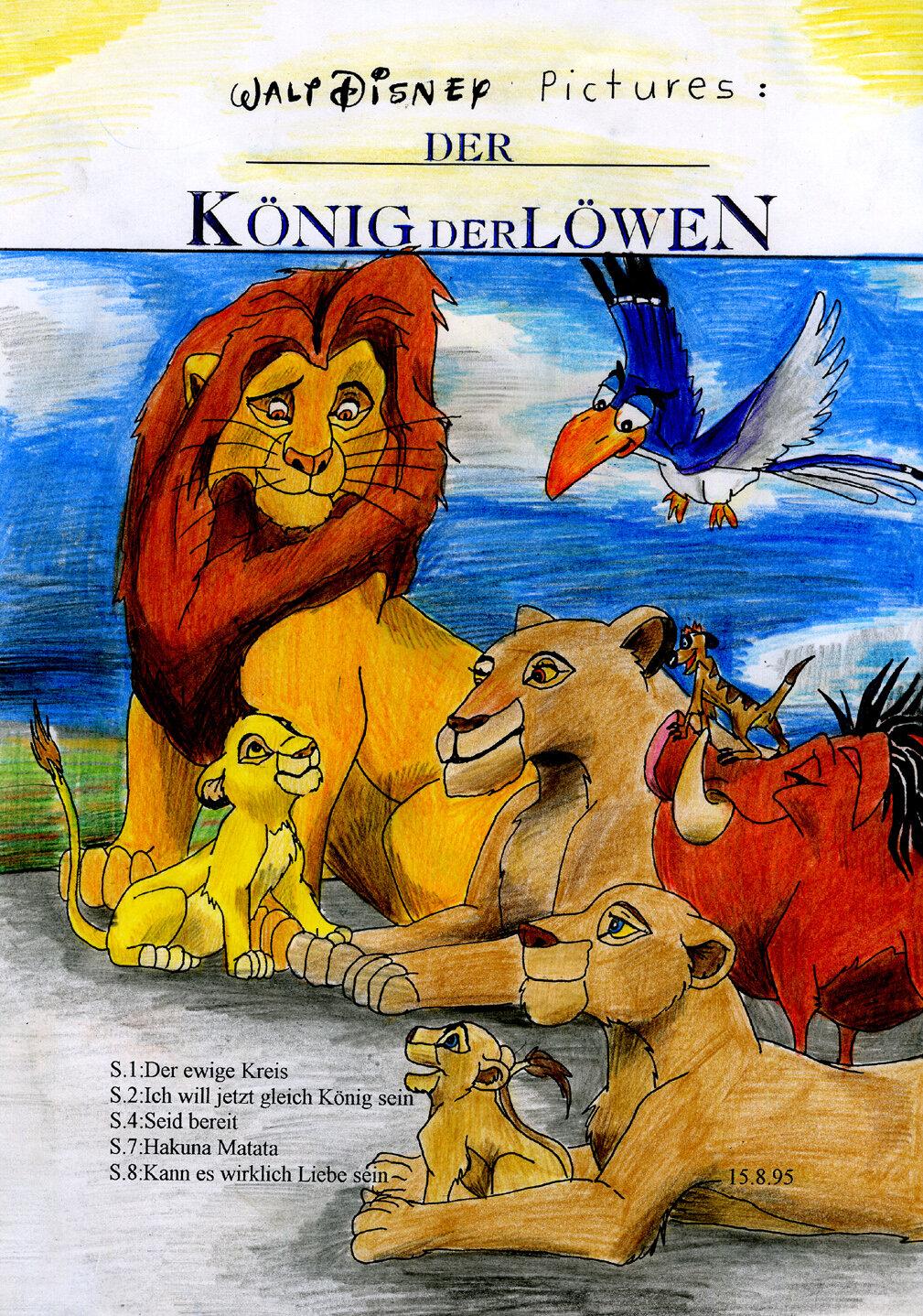 Disney: Der König der Löwen Cover (08/1995)