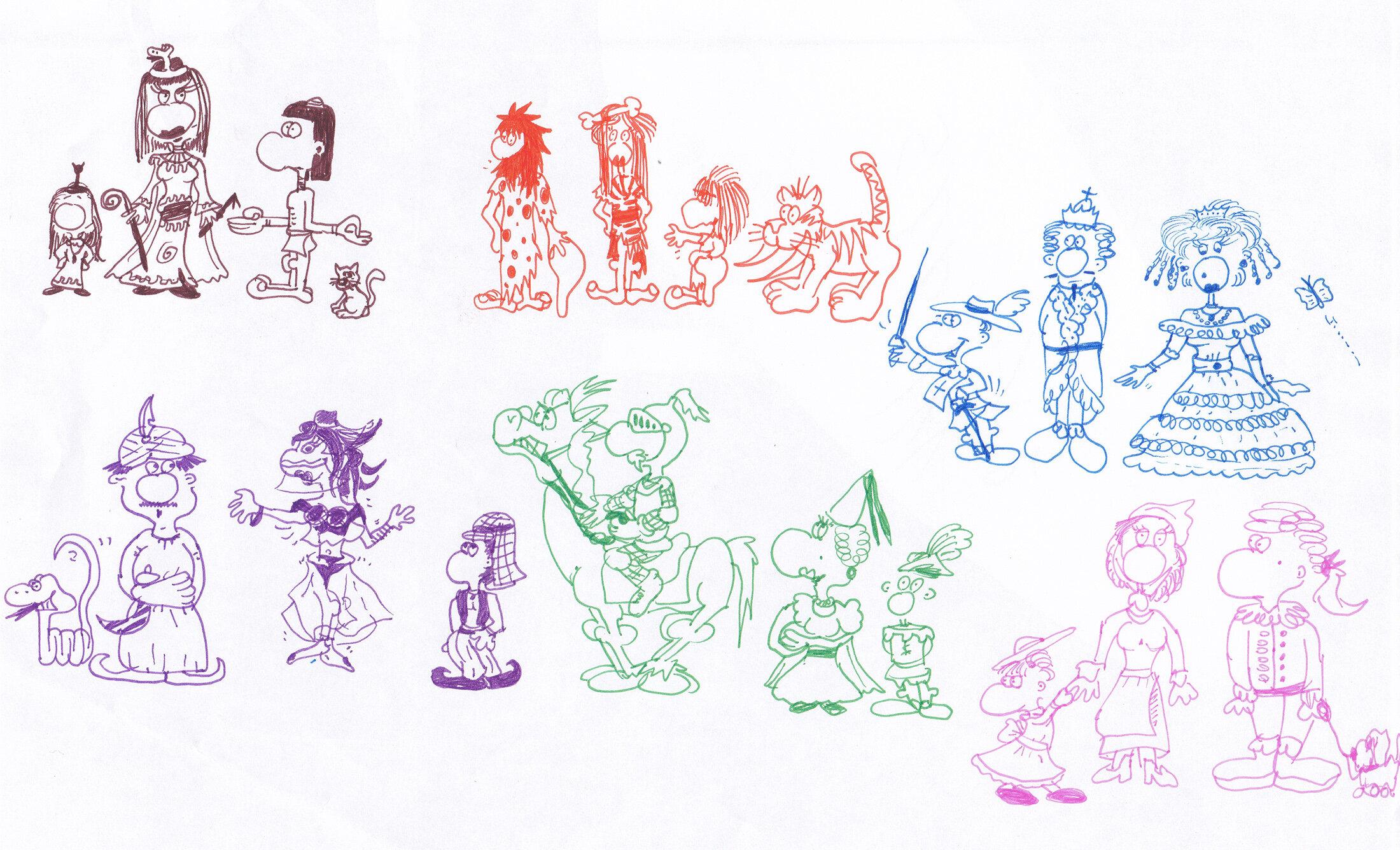 Comicfiguren aus verschiedenen Epochen/Kulturen (11/1995)