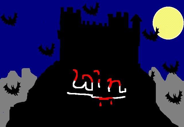 Vampirschloss Hintergrundbild, Paint (1996?)