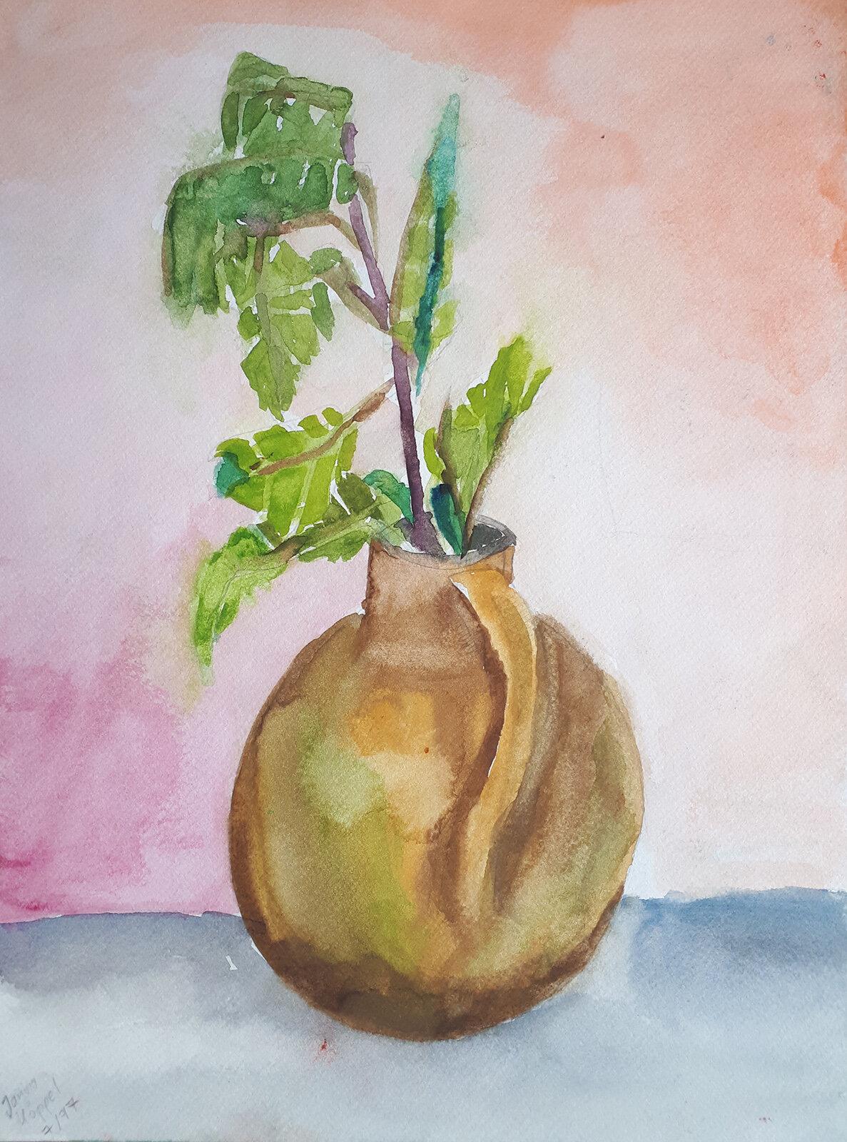 Vase, Aquarell (07/1997)
