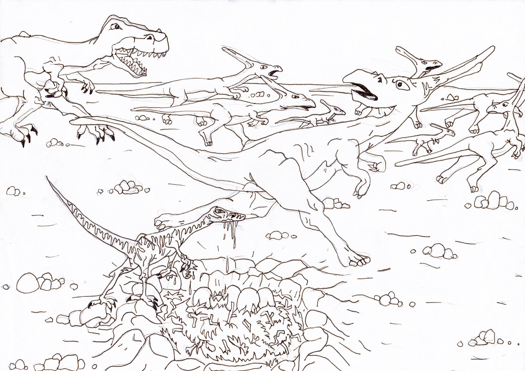 Dinosaurier Szene 3 (08/1997)