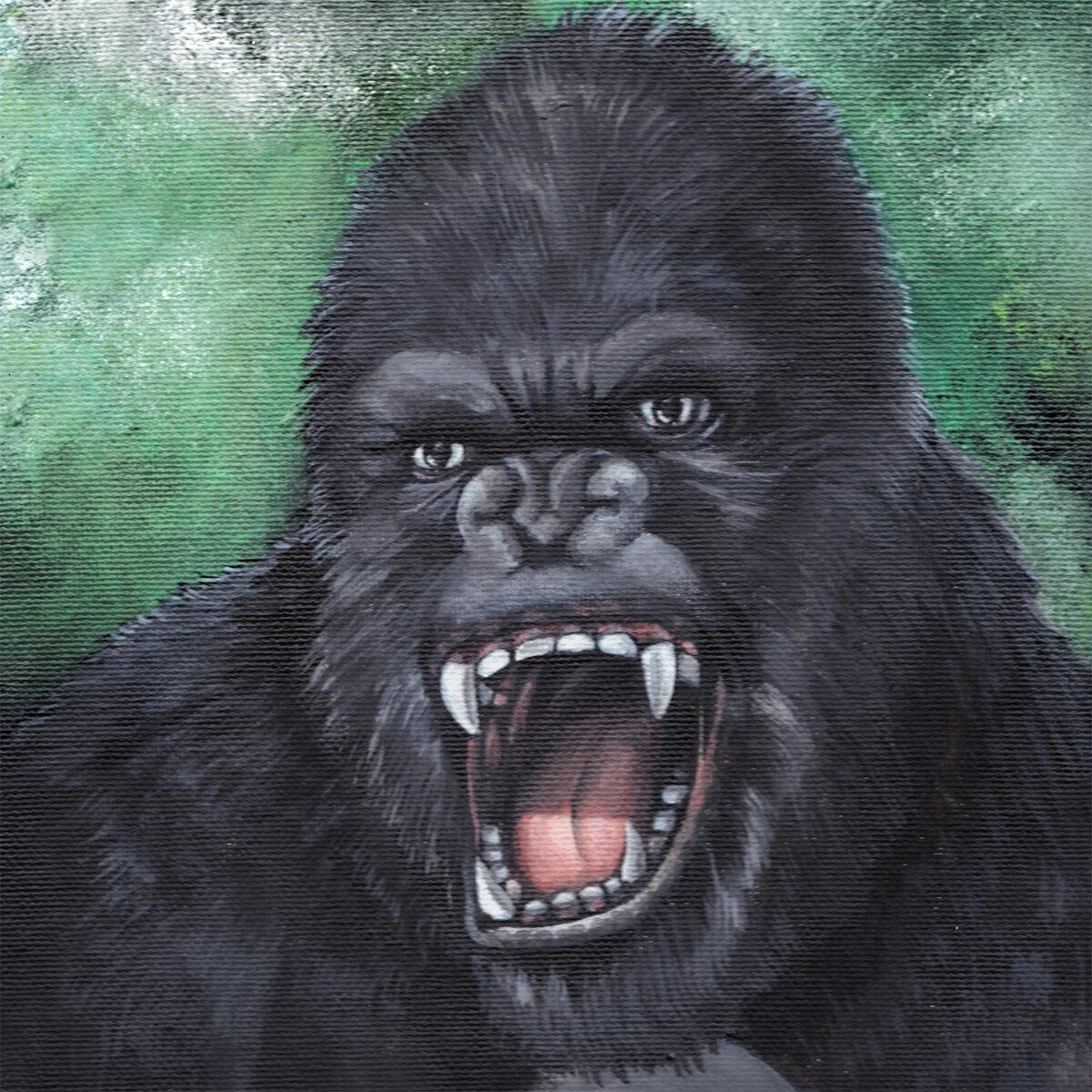 Acryl-monsterportrait-kingkong