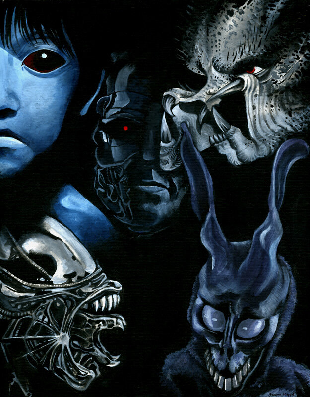 Acryl-portrait-horror2 2005-07