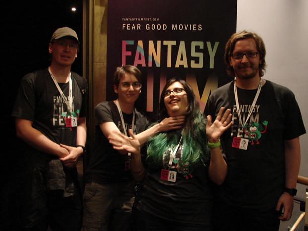 Sven, Janina, Sandra, Alex auf dem FFF 2015 in Ffm