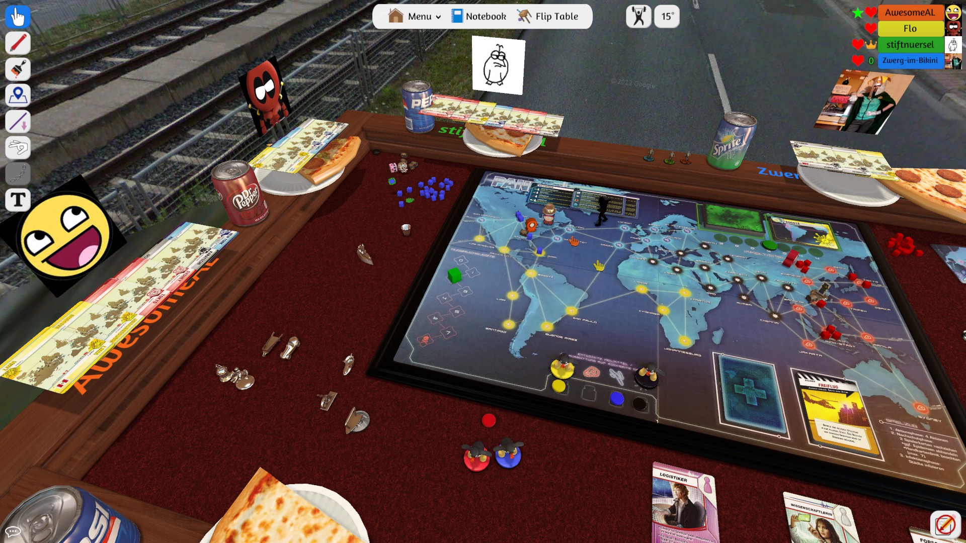 Tabletop Simulator: Pandemic